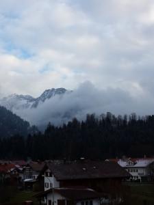 leichter Schneefall nachmittags in Oberstdorf 09.12.14